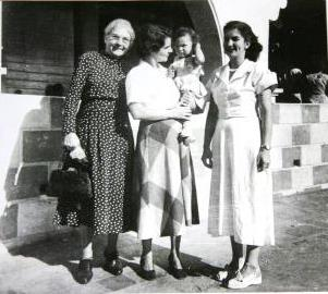 Eileen as a child with family members.