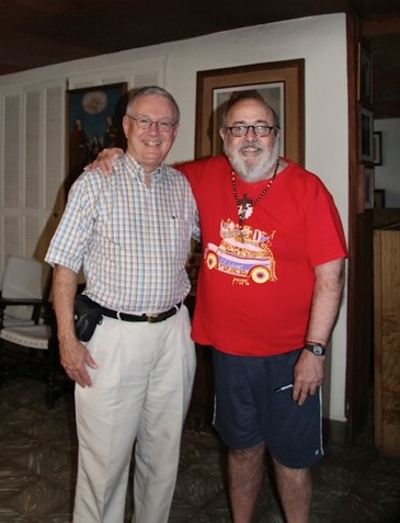 Pastor Don with Fernando Llort, a famous artist well known in Central America and much of the world.