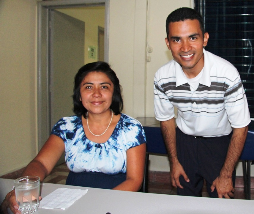 Marisol (waiting to be interviewed) & Eduardo (assistant to Francisco Mena) provides much support.