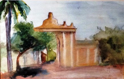 Original Watercolor from Eileen Giron's collection